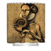 Shell Eater Shower Curtain