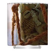 Shells In A Bottle Shower Curtain by Diane Reed