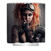 Shelly 1 Shower Curtain