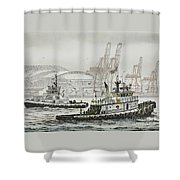 Shelly And Wedell Foss Shower Curtain