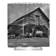 Shelter From The Storm 2 Wrayswood Barn Shower Curtain