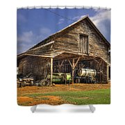 Shelter From The Storm Wrayswood Barn Shower Curtain