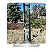 Shelved Forms Shower Curtain