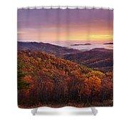 Shenandoah Autumn Sunrise Shower Curtain