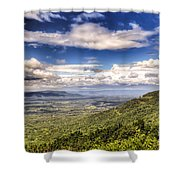 Shenandoah National Park - Sky And Clouds Shower Curtain