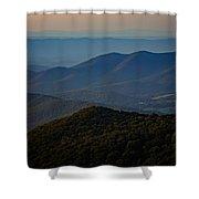 Shenandoah Valley At Sunset Shower Curtain