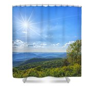 Shenandoah's The Point Overlook Shower Curtain
