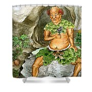 Shennong, Chinese Deity Of Medicine Shower Curtain