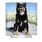 Shepherd Mix Timmy Shower Curtain
