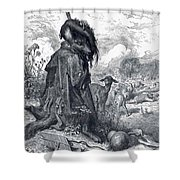 Shepherd Wolf Shower Curtain