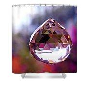 Sherbet Crystal Teardrop Shower Curtain