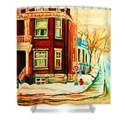 Sherbrooke In Winter Shower Curtain