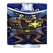 Sheriff Dillo Shower Curtain