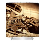 Sheriff Tools Shower Curtain