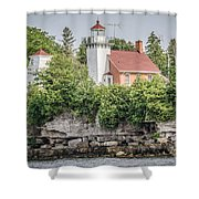 Sherwood Point Lighthouse Shower Curtain