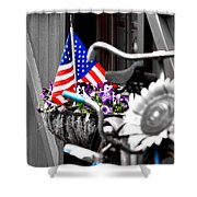 She's A Grand Old Flag Shower Curtain