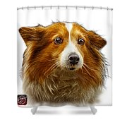 Shetland Sheepdog Dog Art 9973 - Wb Shower Curtain