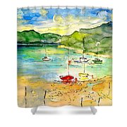 Shieldaig In Scotland 03 Shower Curtain
