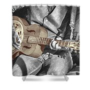 Shifty Drifters Busker Band Shower Curtain