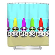 Shih Tzu Surf Jersey Shower Curtain