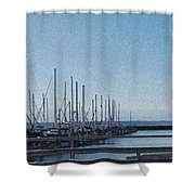 Shilshole Bay Marina 2010 Shower Curtain