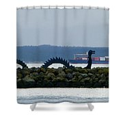 Shilshole Sea Serpent Shower Curtain
