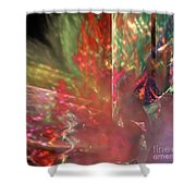 Shimmer Leaves Shower Curtain