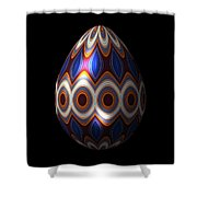 Shimmering Christmas Ornament Egg Shower Curtain