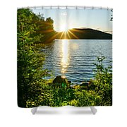 Shimmering Evening Shower Curtain