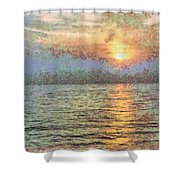 Shimmering Light Over The Water Shower Curtain