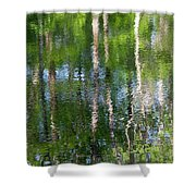Shimmering Reflection Shower Curtain