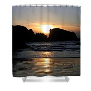 Shimmering Sands Sunset Shower Curtain
