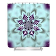 Shimmering Snowflake Shower Curtain