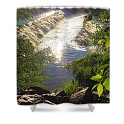 Shimmering Sun Rays On Colorado Springs Shower Curtain