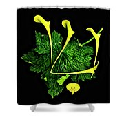 Shin - First Hebrew Letter Of Shalom Shower Curtain