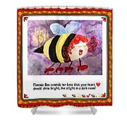 Shine Your Heart Bright  Shower Curtain