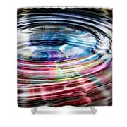 Shining Ripples In Bright Colors Shower Curtain