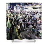 Shinjuku People Rush Shower Curtain