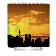 Shinjuku Sunrise Shower Curtain