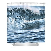 Shiny Wave Shower Curtain