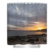 Ship Harbor Shower Curtain