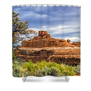 Ship In The Desert Shower Curtain