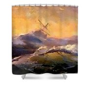 Ship In Trouble H B Shower Curtain