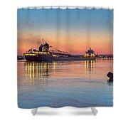 Ship Kaye Barker Reflections -8368 Shower Curtain