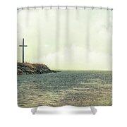 Ship Mast Memorial  Shower Curtain