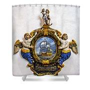Ship Memorial Shower Curtain