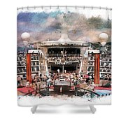 Ship Pool Area Shower Curtain