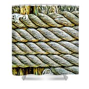 Ship Rope Anchored Shower Curtain