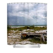 Ship Wrecked And Buried Shower Curtain