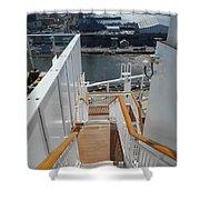 Shipboard Stairways Shower Curtain